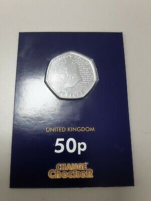 Sherlock Holmes 2019 UK 50p  Coin Brilliant Uncirculated In Change Checker Card