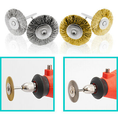 16pc Rust Removal Polishing Wire Brushes 2.35MM Stainless Steel For Drill Rotary