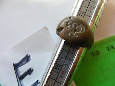 Ancient  Bronze Ring,,Ancient RUSSIAN...18mm..unusual  motif design(E)