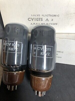 Very Rare Strong Matched Pair Of Gec Cv1075 Military Spec Kt66 Nos Boxed