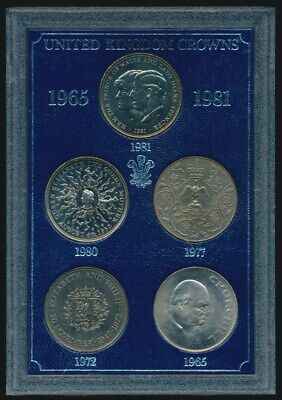 Great Britain: 1965-1981 Crown Collection (6) UNC in Display Case
