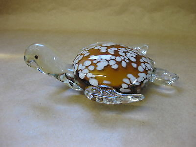 Vintage Art Glass Figure of a Turtle ~ Heavy Glass - 1 kg ~ Paperweight