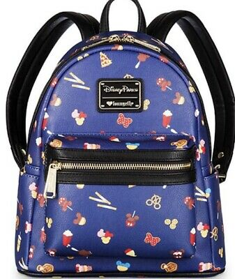 NEW WITH TAGS! Loungefly Disney Parks Food Icons Faux Leather Mini Backpack!