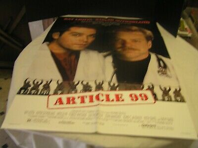 Article 99 Movie Poster 1992 Kiefer Sutherland, Ray Liotta, Forest Whitaker