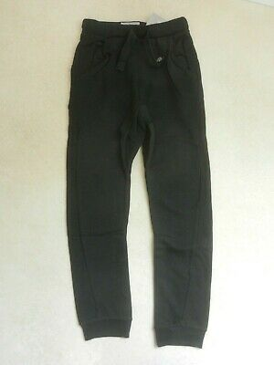 BNWT Next Boys Black Twisted Seam Jogging Pants Bottoms Trousers Age 10 Years