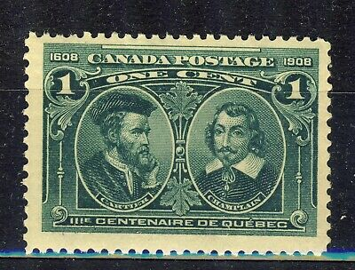 1908 #97 1¢ King Edward Vii Quebec Tercentenary F-Vf