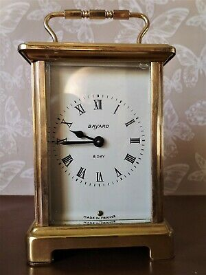 Vintage French Bayard Carriage Clock - Duverdrey & Bloquel 9 Jewelled