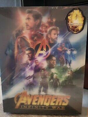 "Blu Ray steelbook ""AVENGERS INFINITY WAR» Edition Blufans neuf sous cello"