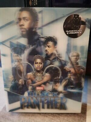 "Blu Ray steelbook ""BLACK PANTHER» Edition lenticulaire Blufans neuf sous cello"