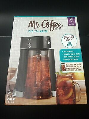 Mr. Coffee Tea Cafe 2-in-1 Black Iced Tea Maker With Glass Pitcher - BVMC-TM33