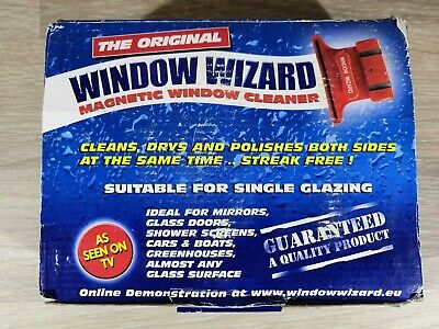 The Original Window Wizard Magnetic Window Cleaner For Single Glazing Seen on TV