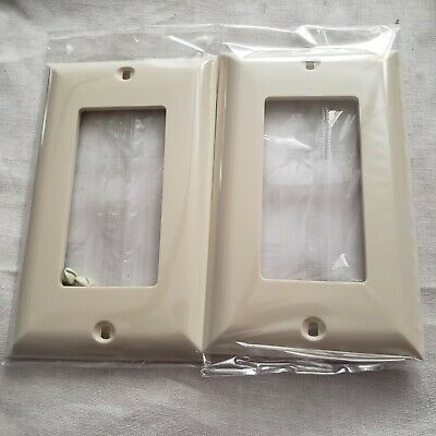 Jasco Light Switch Wall Plate Receptacle Outlet Cover 2 ALMOND 40053