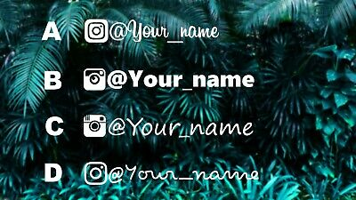 Instagram Name Decal IG/_CM