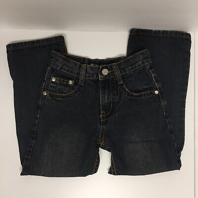 SZ 6 boys blue BLUE JEAN pants by Jean Station RARE/None Available/Designer EUC