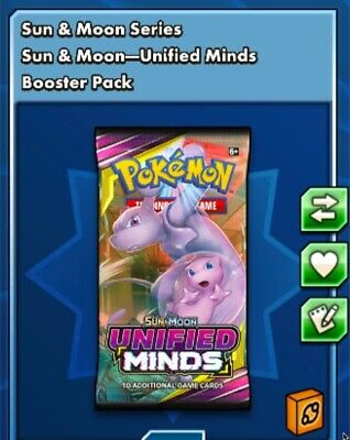 30x Sun And Moon Unified Minds Pokemon tcgo Sent Ingame Fast Trading Card Game