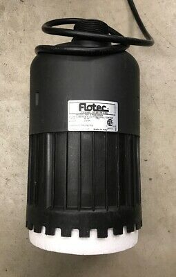 Pentair Flotec Thermoplastic Stream/Waterfall Utility Pump 4/10 Hp Lightly Used