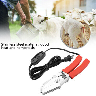 Piglets Sheep Tail Docking Clamp Reduce Bleeding Castration Tails Pliers