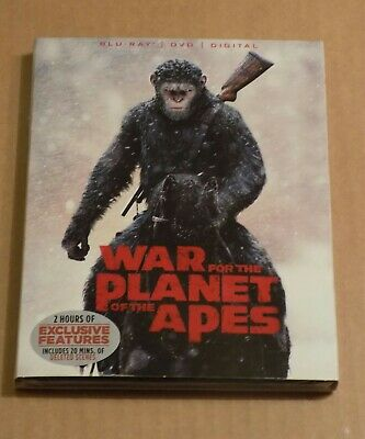 War for the Planet of the Apes (Blu-ray+ DVD 2-Disc Set) Includes Digital copy