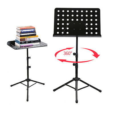 Hot Metal Adjustable Folding Music Stand Holder Fold Stage