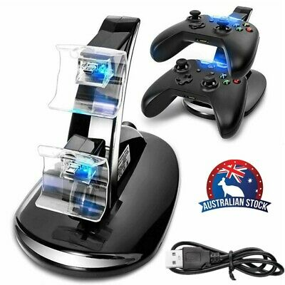 Docking Station for Xbox One/One S Charging Dock Dual Controller Charger +USB AU