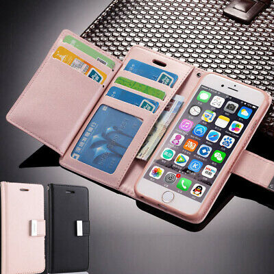 For iPhone X XR XS MAX Leather Wallet Case Magnetic Flip Card Shockproof Cover