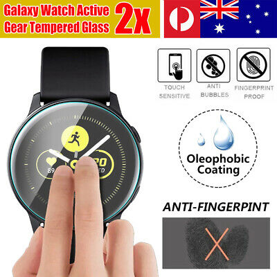 2x Samsung Galaxy Watch Active 2 Tempered Glass Screen Protector Guard 40/44mm