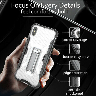 For Apple iPhone X 7 8 6 Plus Shockproof Hybrid Slim Rugged Kickstand Cover Case