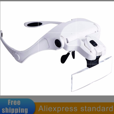 Dental Binocular Loupes 5 Lens Dentist Surgical Medical Magnifier Light Glasses