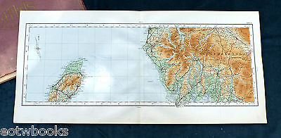 THE LAKE DISTRICT & THE ISLE OF MAN - 1922, Vintage cloth OS MAP.