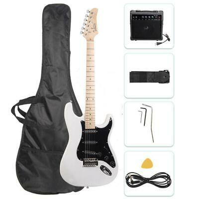 "Glarry 39"" Full Size Electric Guitar for Music Lover Beginner with 20W Amp White"