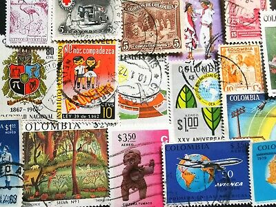 🇨🇴 50 Colombian Stamps All Different Colombia