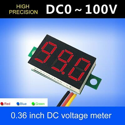 DC0~100V Voltmeter Ammeter Red | Blue | Green LED Amp Digital Volt Meter Gauge