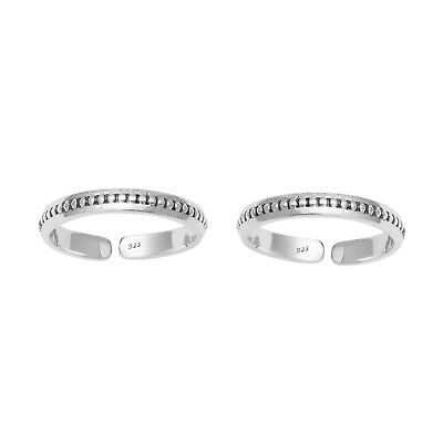 Stacking 925 Sterling Silver Adjustable Stackable Foot Beach Women Toe Ring