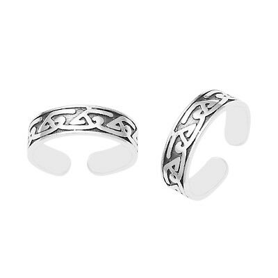 Celtic Stacking Adjustable Women Foot Beach Toe Ring Ladies Feet Jewelry Band 2