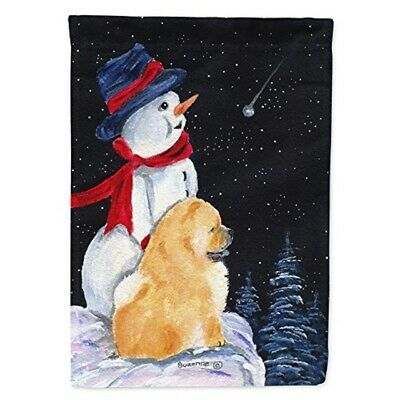 Carolines Treasures SS8554APRON Snowman with Chow Chow Apron Large Multicolor