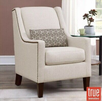 Peachy True Innovations Sophia Cream Fabric Chair With Accent Dailytribune Chair Design For Home Dailytribuneorg