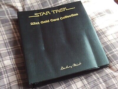 Star Trek 22ct Gold Card Collection Danbury Mint Complete Set 48 Cards in Folder