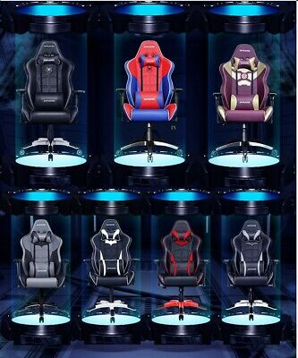 Sports Racing Gaming Chair Faux Leather Executive Office Swivel Computer Chair