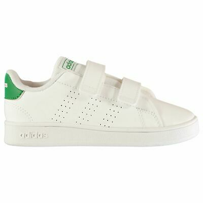 adidas Kids Boys Advantage CF Inafant Low Top Strap Trainers Sports Shoes