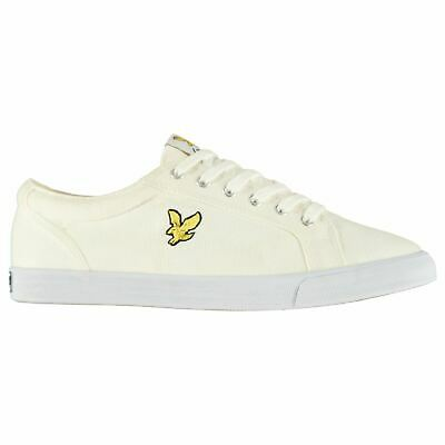 Lyle and Scott Mens Halket Trainers Canvas Low Lace Up Padded Ankle Collar