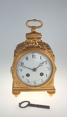 French Pendule D'officer Antique Clock Dated 1880