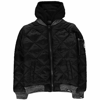 No Fear Kids Boys Quilt Bomber Juniors Jacket Midweight Coat Top