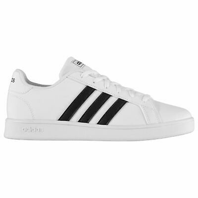 adidas Kids Boys GrandCourt Juniors Low Top Trainers Sports Shoes Lace Up
