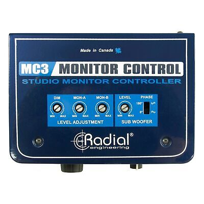 Radial MC3 Passive Monitor Controller with Subwoofer and Headphone Outputs