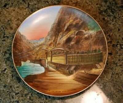 Antique Canyon City Colorado Souvenir Porcelain Plate Hand painted in Germany