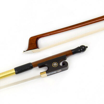 Violin Bow Accessories 4/4 Fiddle Pernambuco Round Stick OX Horn Frog Horse Hair
