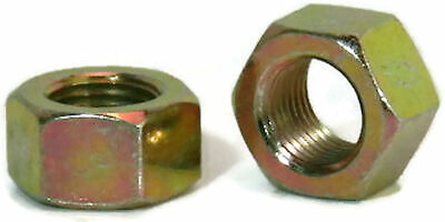 "Zinc Plated Grade 8 Steel Hex Nuts Yellow Finished Nuts - 1/4"" to 2-1/2"""