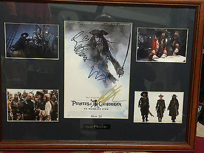 RARE! Low Number 2/50 Pirates of the Caribbean Signed Johnny Depp, Orlando BLOOM