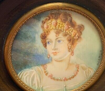 ANTIQUE FRENCH 19TH Century Portrait of Joséphine Wife of NAPOLEON Bonaparte