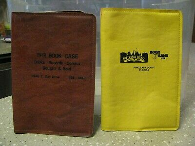 2 Soft Vinyl Faux Fake Leather Book Cover Lot
